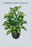 PE Schefflera Bush Potted Artificial Plant for Home Decoration (50792)