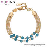 74021 Xuping 2017 Trending Products New Brand Vogue Gold Bead Bracelet China Wholesale