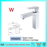 Sanitary Ware Watermark & Wels Single Lever Square Brass Basin Mixer Tapware (HD4203)