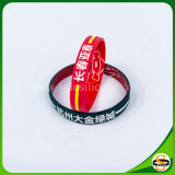 Custom Embossed Silicone Wristband with Printing Logo