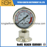 Low Pressure Sanitary Diaphragm Pressure Gauge-Clamp Type Pressure Gauge