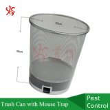 Galvanized Iron Trash Can with Multi Catch Rodent Mouse Trap