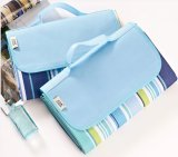 Polyester Promotional Comfortable Picnic Mat, Travel Polar Fleece Blanket with Handle