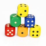 Wooden Rainbow Game Dice Baby Education Toy