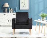 Modern Tufted Fabric Office Single Arm Sofa Chair