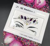SGS Certified Fashion Jewelry Christmas Party Crystal Face Sticker Decorative Rhinestone Stickers (S091 jet hematite)