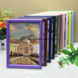 Glossy Black Picture Frame 8X10 Inch (2 PC) Photo Display with Photo Glass Front Pane, Easel Back, Hanging Clip Esg10231