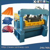 Glazing Stamping Roof Tile Cold Roll Forming Machine