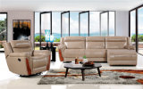 Genuine Leather Chaise Leather Sofa Electric Recliner Sofa (434)