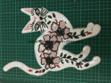 Garment Accessories Sequins Patches Flower Embroidery Patch Ym-011