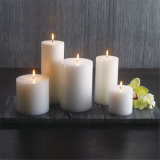Dinner Pillar Candle White Church Candle