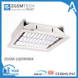 100W LED Recessed Light for Gas Station and Warehouse