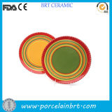 Colorful Rainbow Circle Round Porcelain Dish