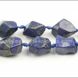 Lapis Lazuli Faceted Medium Nuggets Gemstone Beads (SL72792)