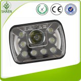 7 Inch Rectangle 55W High/Low Beam LED Work Light with DRL