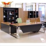Fashion Design Bamboo Venner L Shape Desk Modern Office Furniture