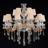 Glass Chandelier Lighting for Hotel or Hall (S-8008-10+5)