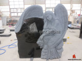 Angel Carved Absolute Black Granite Monument