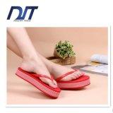 Women Thick Bottom High Heel Wedge Platform Flip Flops Slippers