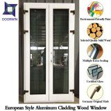 Solid Oak/Teak/Hemlock Wood Casement Windows and Doors with Aluminum Cladding, Durable American Style Window