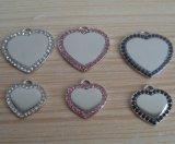 Heart Blank Rhinestone Pet ID Tag Wholesale