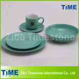 Hot Sale Round Shape Ceramic Color Glazed Dinner Sets