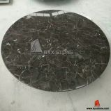 Brown Marble Round Shape Table for Houses, Coffee Shop, Hotel