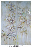 White Sakura Oriental Cherry Flower Oil Painting (LH-700430)