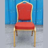 Iron Hotel Chair with Red Fabric (YC-ZL22-03)