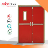 Exterior Residential Metal Fire Emergency Exit Door with Glass