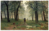 Famous Artists Oil Painting, Art Painting, Masterpiece Oil Painting, Rain in an Oak Forest (1891 years) -Ivan Shishkin