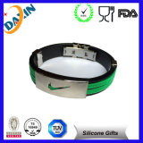 Black Silicone Sport Medical Alert ID Bracelet with Jewelry Stainless Steel