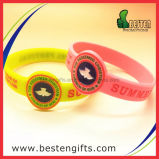 Cheap Customized Fashion Debossed Watch Rubber Silicone Bracelet with Colorfilled Logo (SW00023)