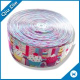 Good Quality Printed Ice Cream Stretch Rayon Grosgrain Ribbon