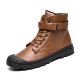 Men First Layer Cow Leather Shoes Winter Snow Ankle Boots