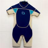 Short Neoprene Surfing Wetsuit with Nylon Fabric (HX15S57)