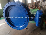 Triple Eccentric Metal Seat Flange Butterfly Valve with Gearbox Actuator