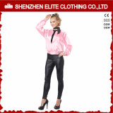 Fashion Pink Satin Baseball Jacket for Women (ELTBJI-45)