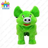 Finego Electronic Furry Stuffed Pig Animal Kiddie Rides for Sale