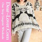 Wholesale Ladies Fashion Animal Pattern Sweater Tops Apparel