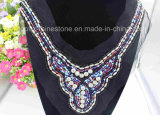 Sew on Clothing Rhinestone Appliques Beads Mesh Handmade Embroidery (TA-003)