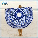 Top Quality Cotton Printed Round Beach Towel with High Quality