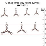 Fishing O-Shap Three Way Rolling Swivels