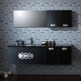 Oppein Black BMW High Glossy Lacquer Fashion Bathroom Cabinets (OP-P1182-170)