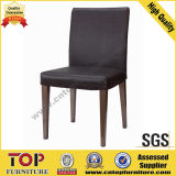 Black Leather Restaurant Dining Chair