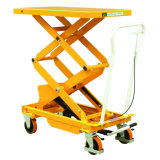 Mobile Manual Hydraulic Scissor Lift Table Truck