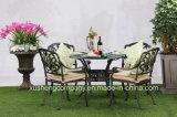 Modern Style Outdoor Garden Furniture Cast Aluminum Table+Chair Set