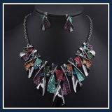 New Item Epoxy Bowknot Fashion Earring Necklace Jewelry Set