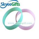 Fashion Charm Glow in The Dark Silicone Rubber Wristband