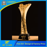 Manufacture Customized Metal 3D Gold Troch Trophy Cup in China